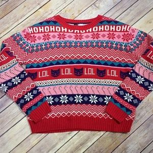 Funny Christmas Sweater with cats